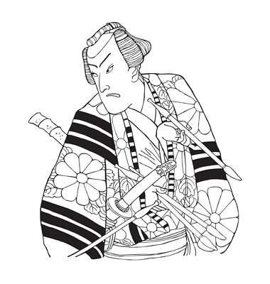 japanese-samurai-vector | Japanese line art | Fawn | Flickr
