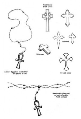 rosary tattoos designs donnadi0r flickr. Black Bedroom Furniture Sets. Home Design Ideas