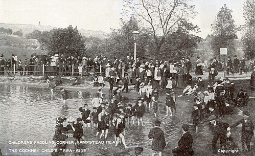 "Childrens Paddling Corner, Hampstead Heath. The Cockney Child's ""Sea-Side"" (c.1907) 