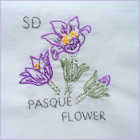 south dakota state flower 38 in the state flower quilt p flickr