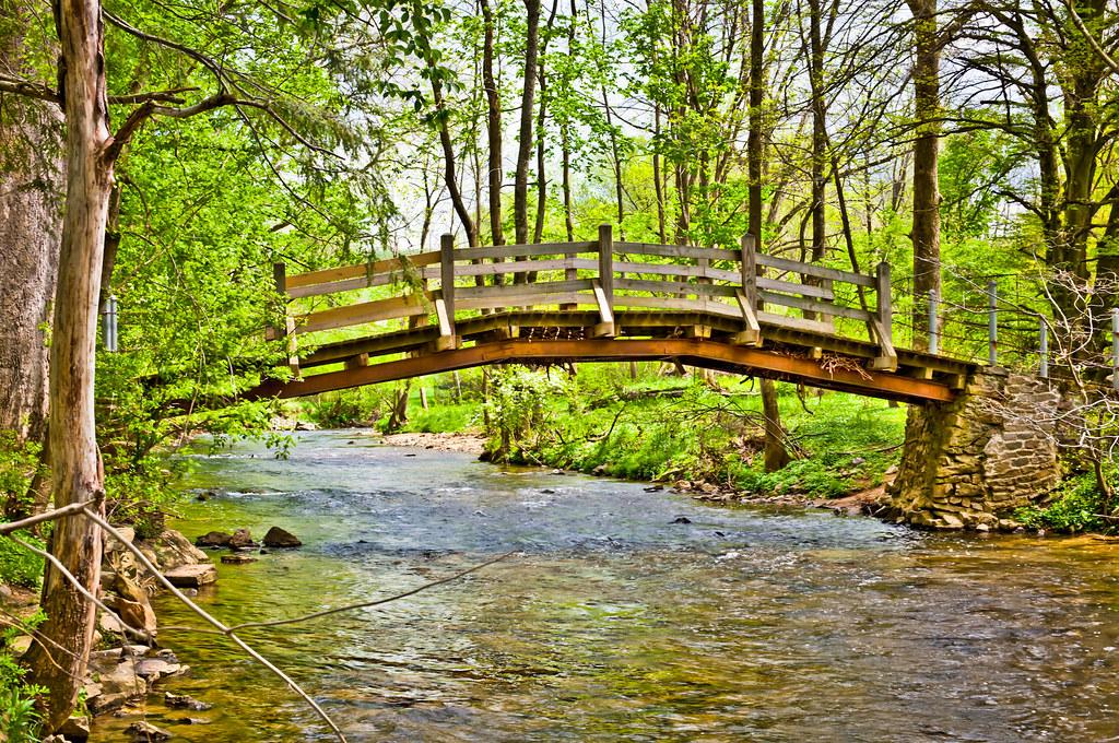 hdr pp foot bridge over valley creek valley forge n flickr