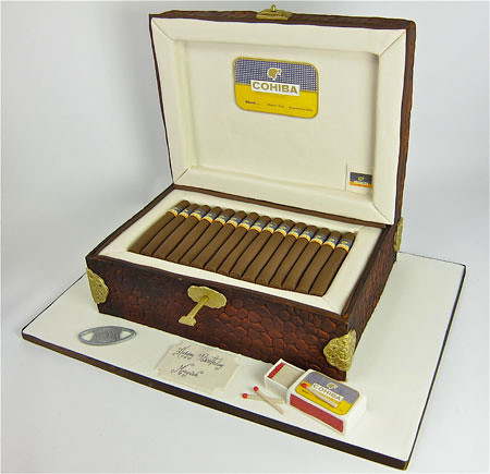 Cigar Box Cake Design
