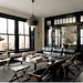 Roman and Williams {black and white loft living room}