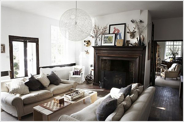 Shoot factory white rustic modern living room brooklyn Modern rustic living room
