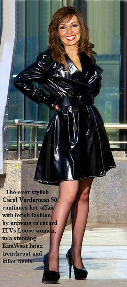 Milf in pvc coat amp leather lace up basque - 2 1