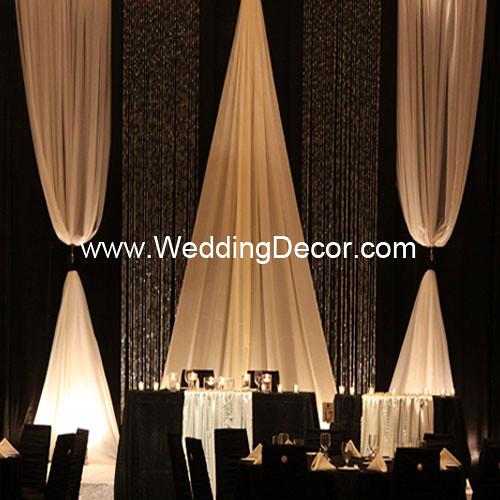 Wedding Backdrop Black Amp Ivory A Black And Ivory