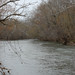 Potomac River splits around island