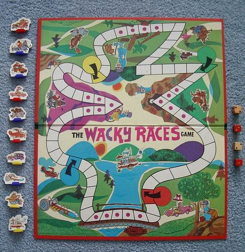 wacky races board game treasures from paul s basement