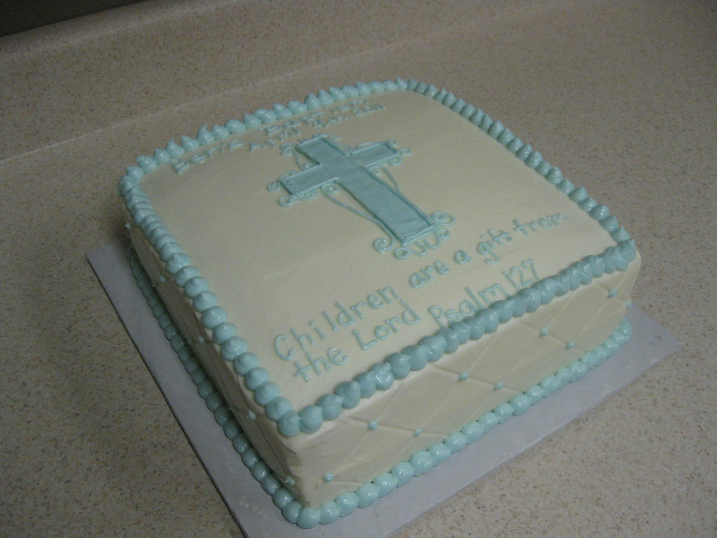 Baptism Cake 10 Square White Cake With Fresh