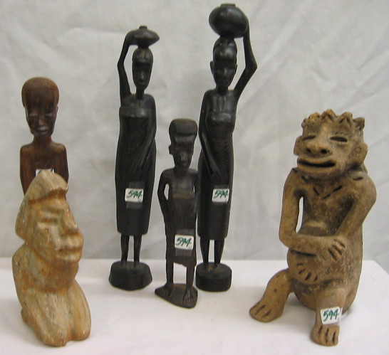 African wooden carved figures