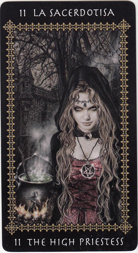 the high priestess victoria frances tarot card