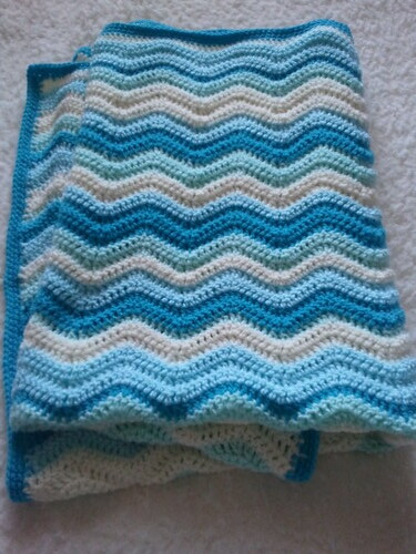 Crochet Baby Boy Ripple Cot Blanket Flickr Photo Sharing