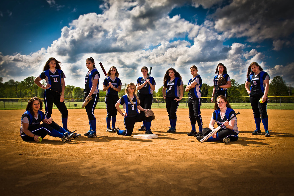 Softball Group Shot with Attitude | Clients requested a