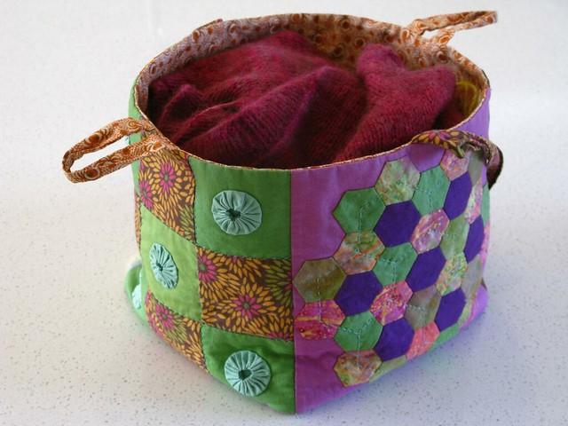Patchwork Knitting Bag Pattern : photo