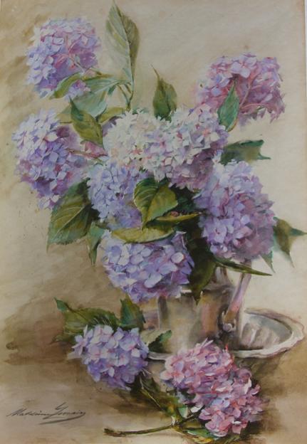 madeleine lemaire les hortensias bleus 1895 exposition flickr. Black Bedroom Furniture Sets. Home Design Ideas