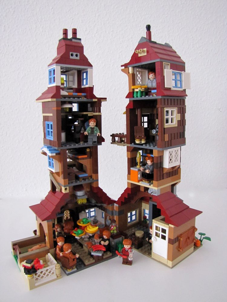 Weasley Burrow Burrow Moc Lego Harry Potter Inside