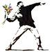 Banksy 'Flower Chucker'