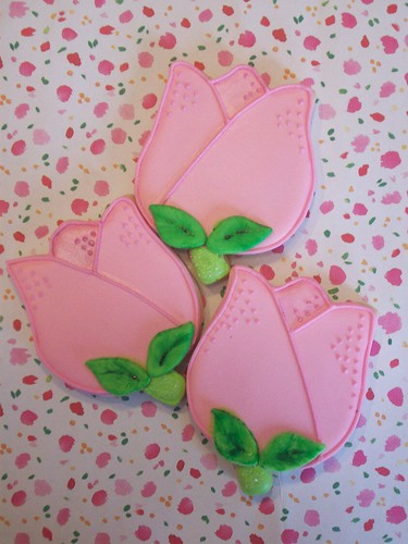 Pink Tulip cookies | Flickr - Photo Sharing!