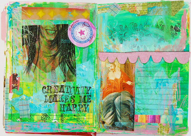 Paint prep spread in an art journal by iHanna