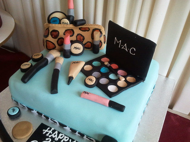 Mac Makeup Cake on Cosmetic Birthday Cake