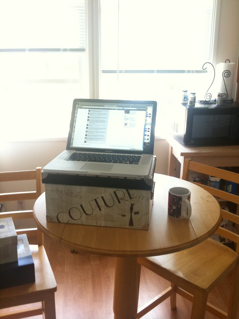 standing desk at the home office my