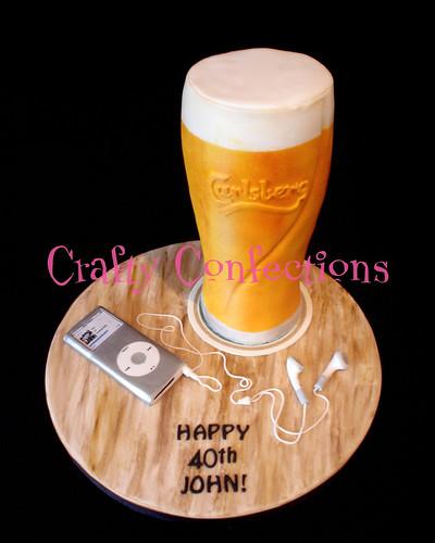 Beer Glass Cake Design