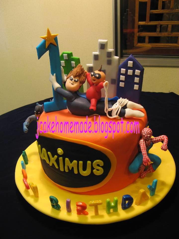 Superhero And The Incredibles Theme Birthday Cake Happy