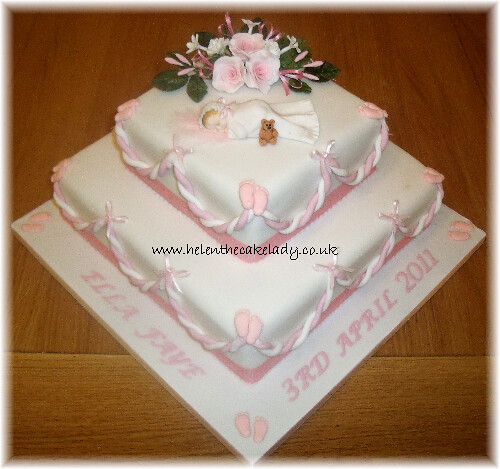 Baby Girl Christening Cake Pictures