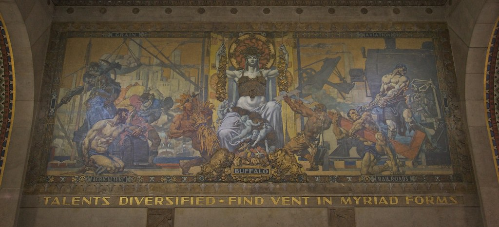 buffalo city hall mural      large murals  flickr