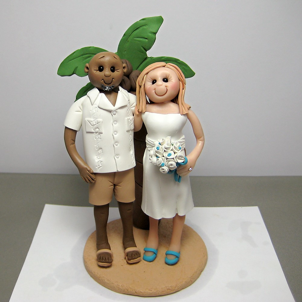 beach cake toppers theme wedding cake topper custom made to order 1533