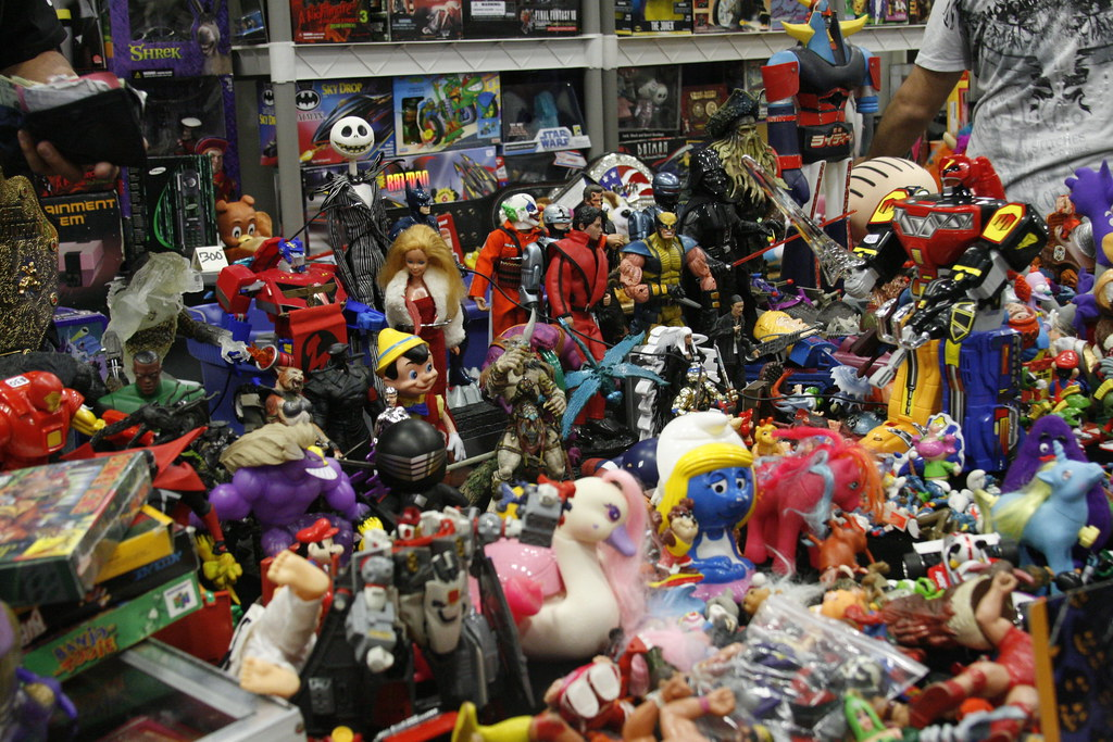 Toys For Groups : Wondercon pile of toys shaireproductions flickr