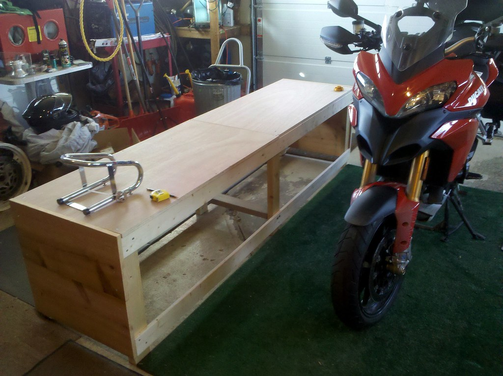 Home Made Motorcycle Bench Work In Progress Still Need