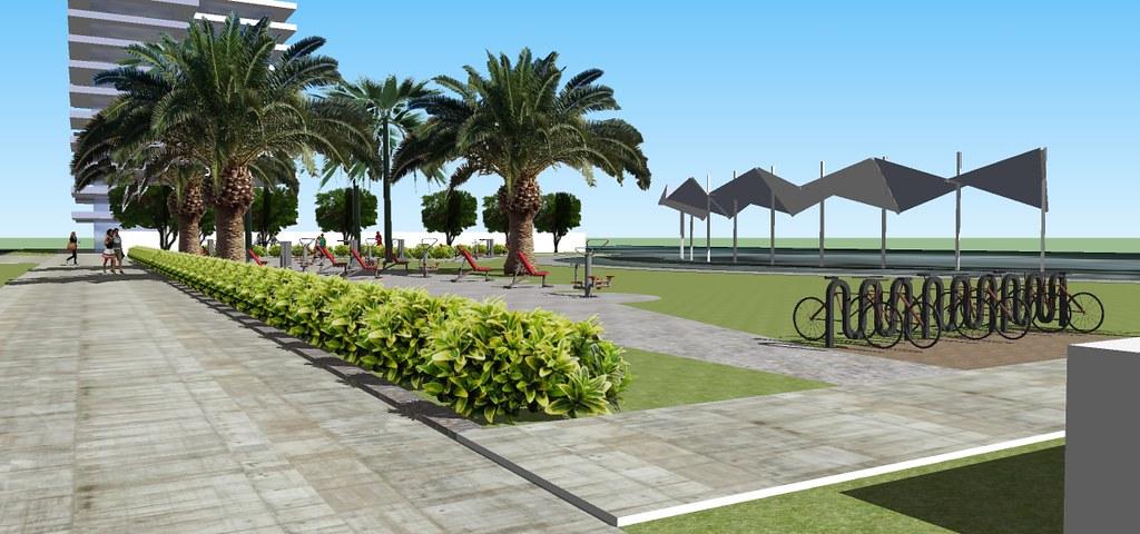 Nuevo dise o para gimnasio abierto en parque balmaceda de for Gimnasio abierto