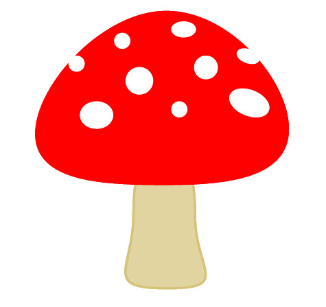 toadstool clip art , 7cm | Flickr - Photo Sharing!