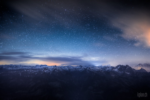 ^ Mount Nageli: Stars over the Alps ^ | by dmkdmkdmk