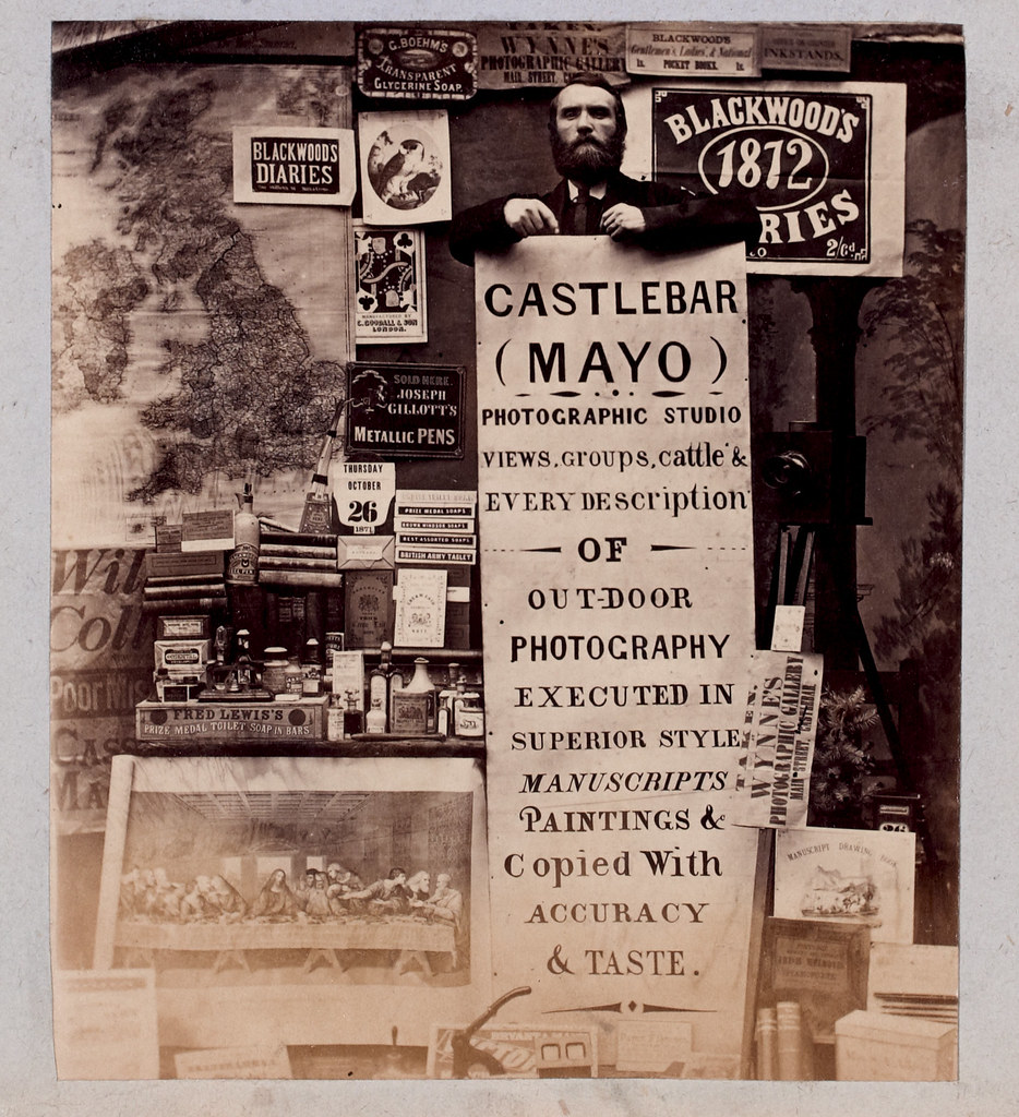 Thomas J. Wynne. [Advertisement for the Wynne photographic studio on Main Street in Castlebar, Co. Mayo], Thursday, 26 October 1871.