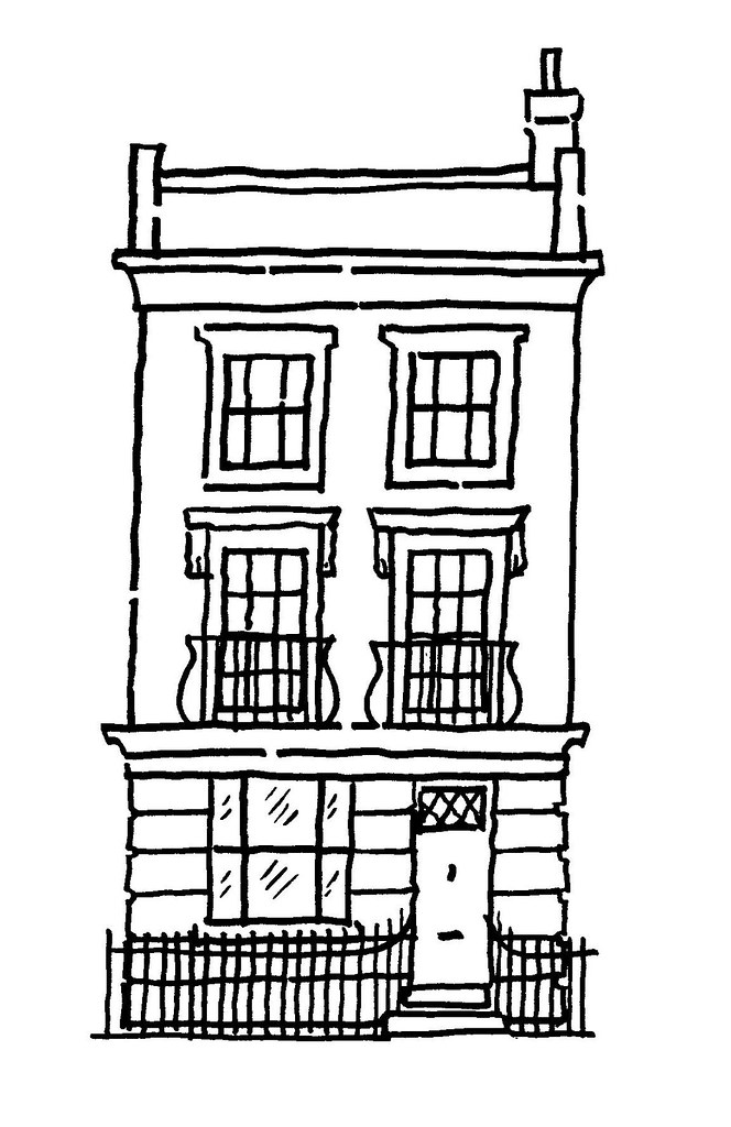 Line Drawing House Image : Line drawing town house for website steve sharpe flickr
