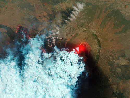 Detailed View of Erupting Nabro Volcano | by NASA Goddard Photo and Video