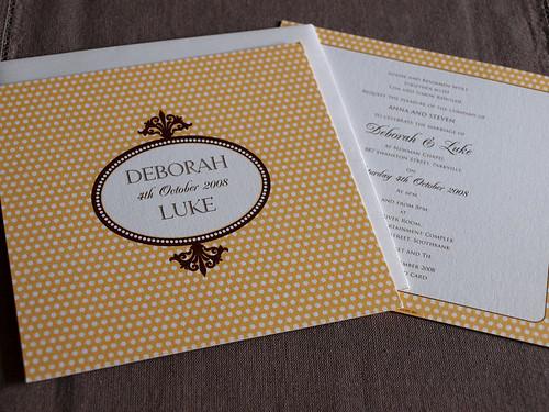 Alannah rose mademoiselle polka dot wedding invitations for 3d rose wedding invitations