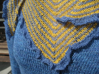 spring kerchief ruffle close-up | by Seattle Yarn