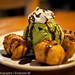 green tea ice cream w/ fried banana