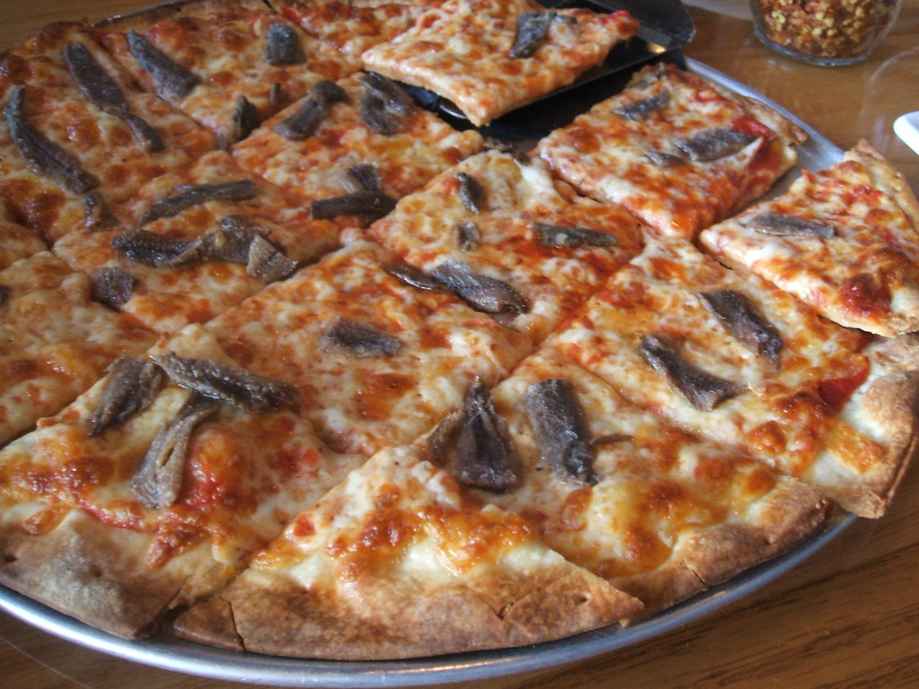 Anchovy pizza | At Buck and Honey's. | jumbledpile | Flickr