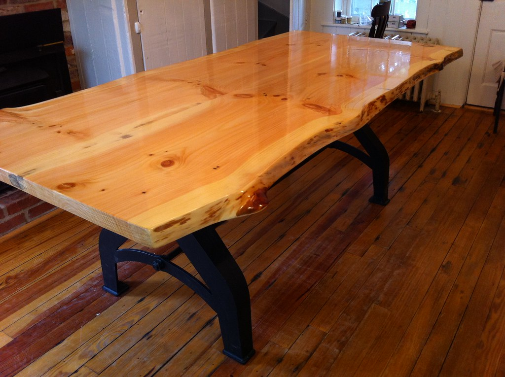 Knotty Pine Slab Table Frederick Md Live Edge Knotty