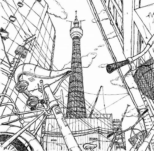 Tokyo Simple Drawing Tokyo Sky Tree | by