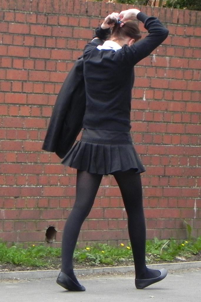 School girls wearing uniforms panties exposure 9