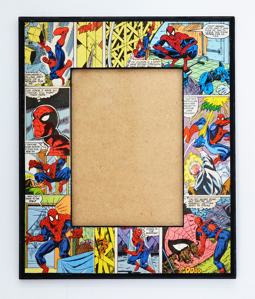 All sizes spiderman decoupaged picture frame flickr photo photo all sizes jeuxipadfo Image collections