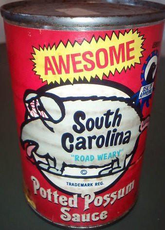 South carolina potted possum sauce yummy rod case for R kitchen south carolina