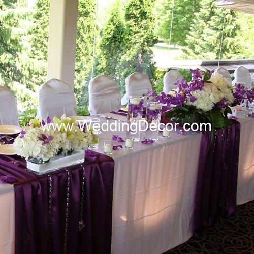 Head Table Decorations Purple Amp White Head Table