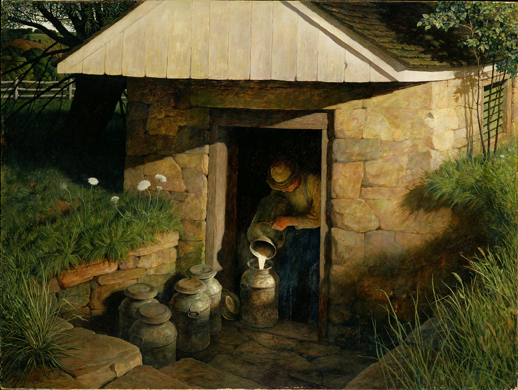 """""""The Spring House"""" 1944 by N.C. Wyeth 