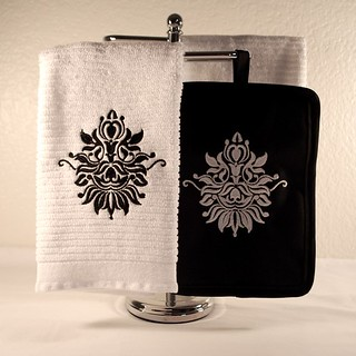 Damask Towel/Pot Holder | by FabulouslyFierce